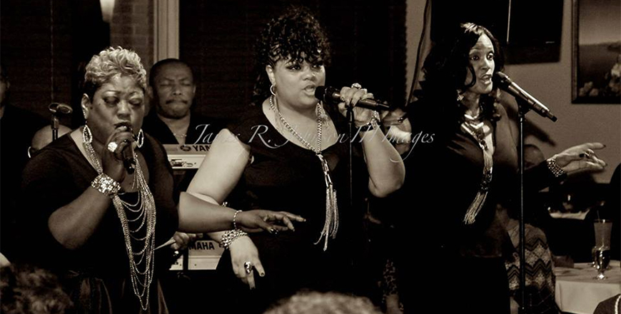 Anissa Hargrove performing with Shadz of Soul